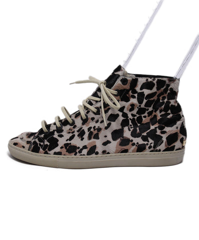 Burberry Brown Tan Animal Print Sneakers 1