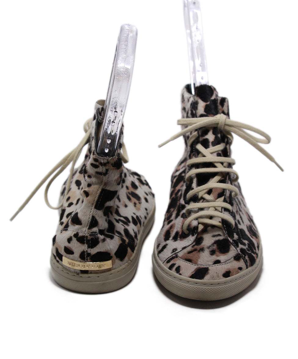 Burberry Brown Tan Animal Print Sneakers 3