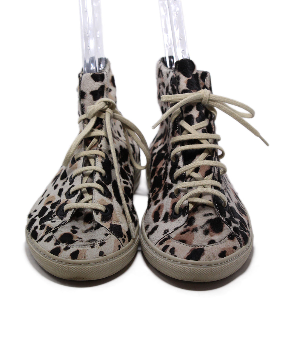 Burberry Brown Tan Animal Print Sneakers 4