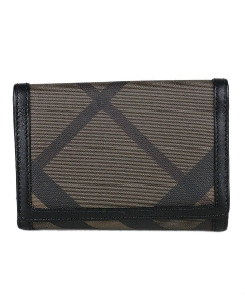 Burberry Brown Tan Canvas Wallet