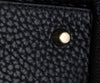 Burberry Black Leather Plaid Trim Handbag 9