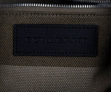 Burberry Black Leather Plaid Trim Handbag 6