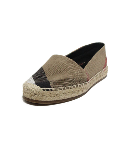 Burberry Khaki red black espadrille flats 1