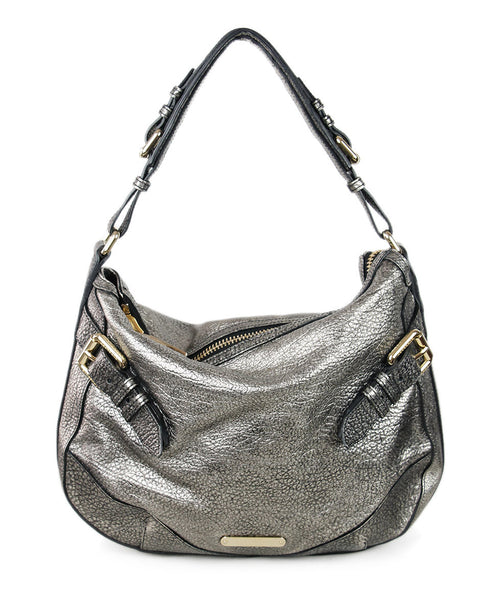 Burberry Pewter Leather Handbag