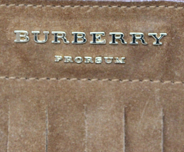 Burberry Porsum Brown Suede Fringe Bucket Bag 6