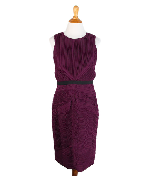 Burberry Purple Plum Silk Dress 1