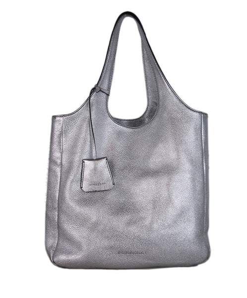 Burberry Silver Leather Shoulder Bag 1
