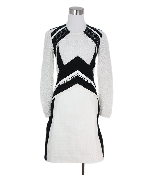 Burberry White black cotton lace dress 1