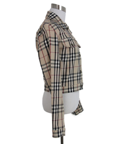Burberry beige plaid jacket 1