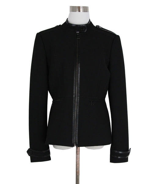 Burberry Black Cotton Leather Jacket 1