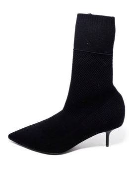 Burberry Black Knit Elastic Booties 3