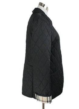 Burberry Black Quilted Nylon Plaid Lining Jacket 2