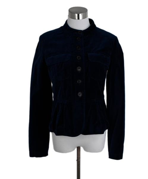 Burberry Blue Velour Jacket 1