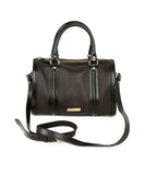 Burberry Brown Leather Satchel Handbag 1