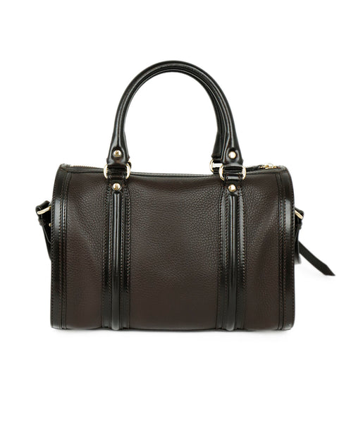 Burberry Brown Leather Satchel Handbag 3