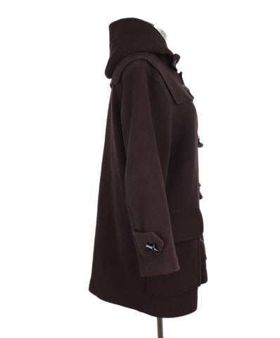 Burberry Brown Wool Toggle Coat 1