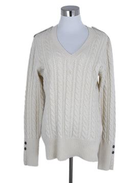 Burberry Cream Wool Cashmere Sweater 1