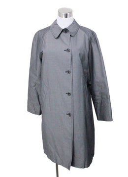 Coat Burberry Size 6 Grey Cotton Viscose Rayon Outerwear
