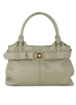 Burberry Grey Taupe Leather Handbag 1