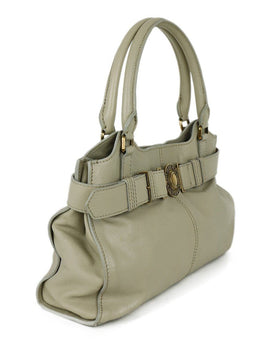 Burberry Grey Taupe Leather Handbag 2