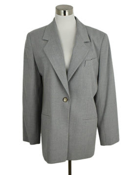 Burberry Grey Wool Elastane Jacket 1