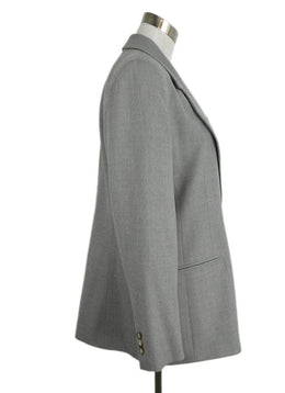 Burberry Grey Wool Elastane Jacket 2