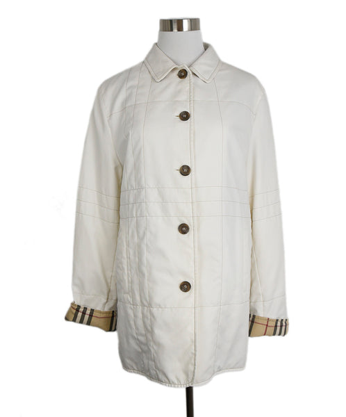 Burberry Ivory Polyester Outerwear 1