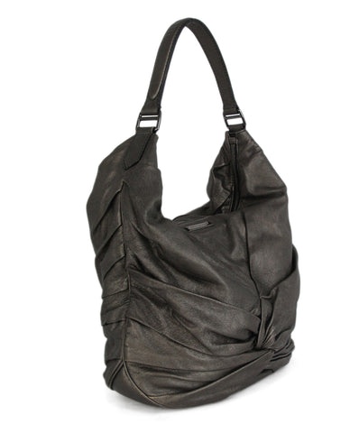 Burberry metallic pewter leather hobo bag 1