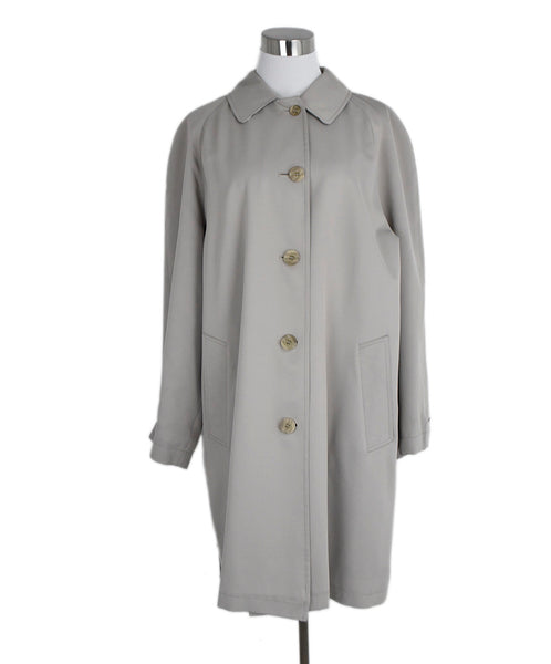 Burberry Neutral Beige Cotton Trenchcoat Outerwear 1