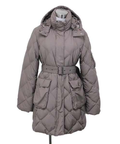 Burberry Beige Polyester Down Coat Sz 8