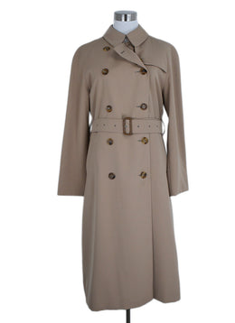 Trenchcoat Burberry Size 10 Neutral Beige Wool 2 Pc Outerwear 1