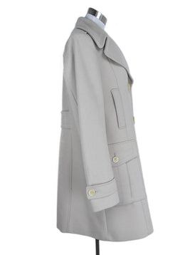 Coat Burberry Size 12 Neutral Cream Wool Polyamide Outerwear 2
