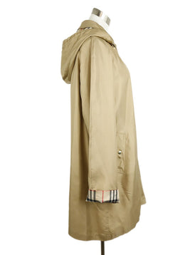 Burberry Tan Silk Polyurethane Trenchcoat 2