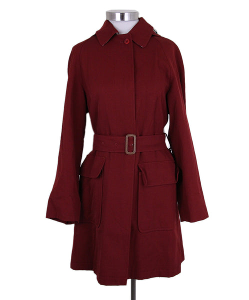 Burberry red Wool trenchcoat 1