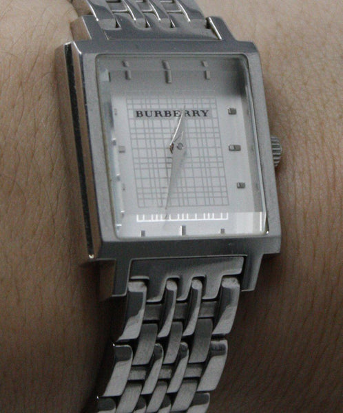 Burberry Metallic Silver Stainless Steel Watch