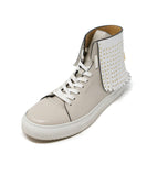 Buscemi Taupe Leather White Fringe Sneakers 1