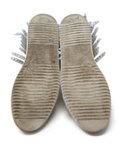 Buscemi Taupe Leather White Fringe Sneakers 4