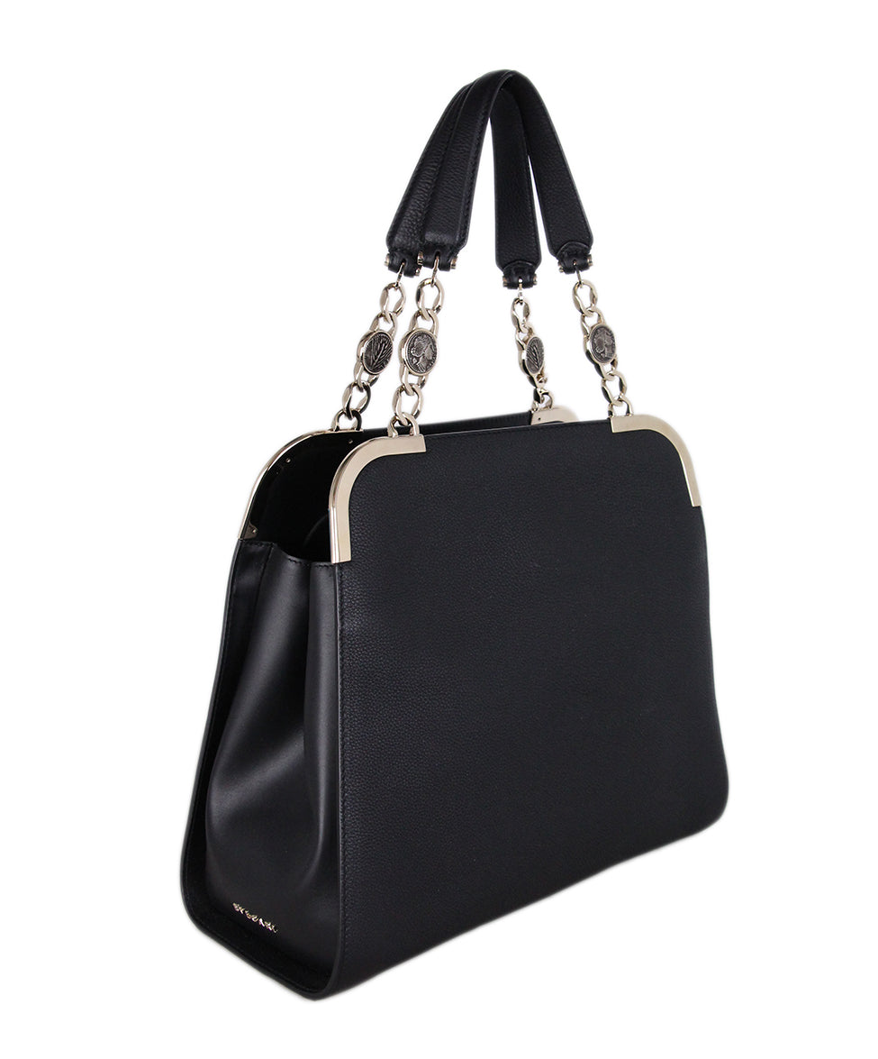 Bvlgari Black Leather Satchel 2