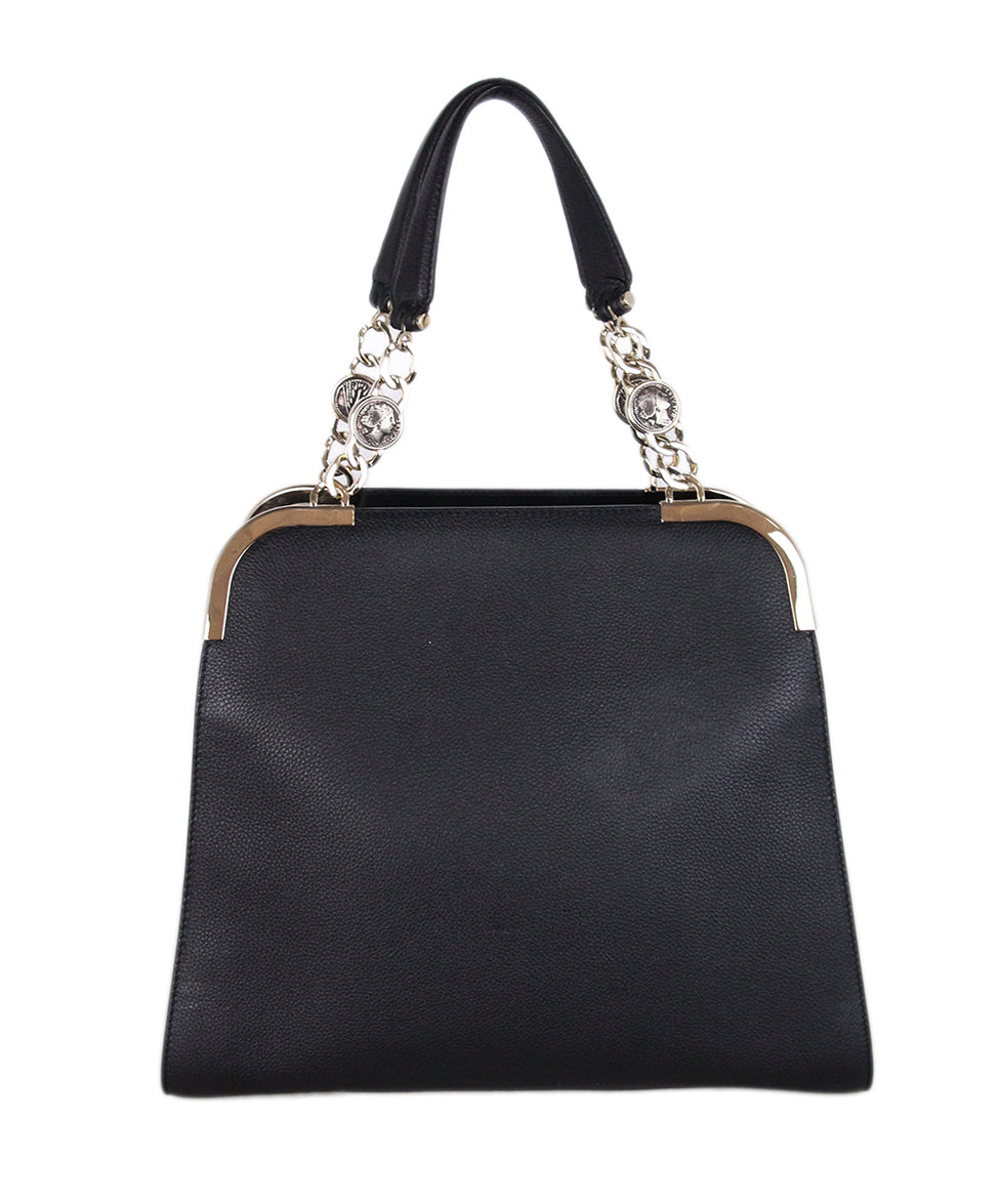 Bvlgari Black Leather Satchel 3