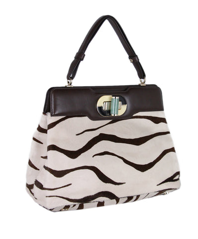 Bvlgari Pony Hair animal print bag 1