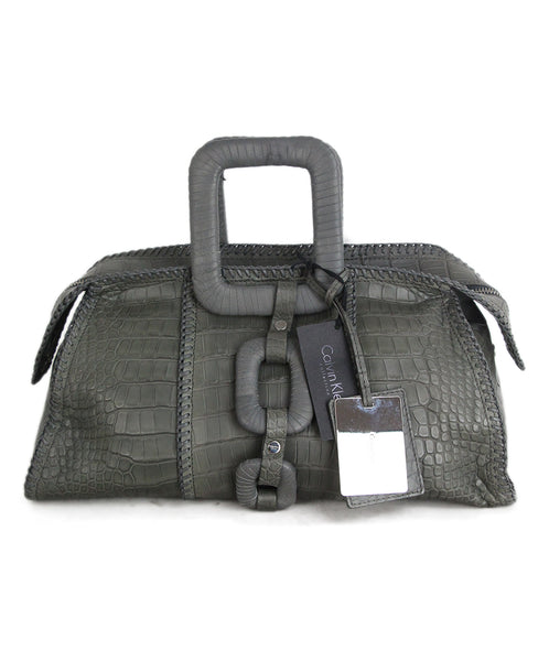 C Klein grey alligator Handbag 1