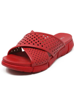 Calvin Klein Red Leather Leather Shoes
