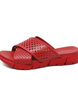 Calvin Klein Red Leather Leather Shoes 1