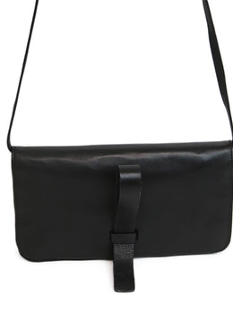 Calvin Klein Black Leather Clutch Crossbody 2