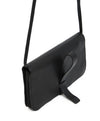 Calvin Klein Black Leather Clutch Crossbody 3