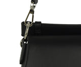 Calvin Klein Black Leather Satchel Handbag 8