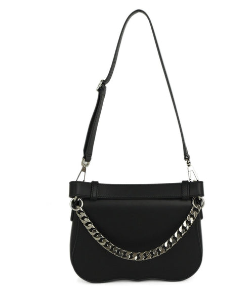 Calvin Klein Black Leather Satchel Handbag 3