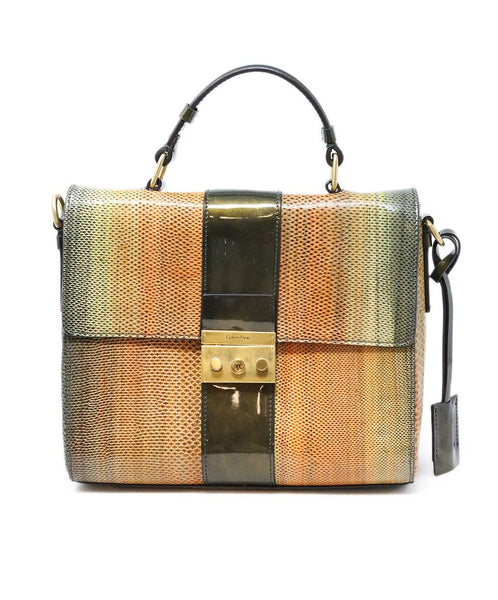 Calvin Klein Multi Leather Lizard Handbag