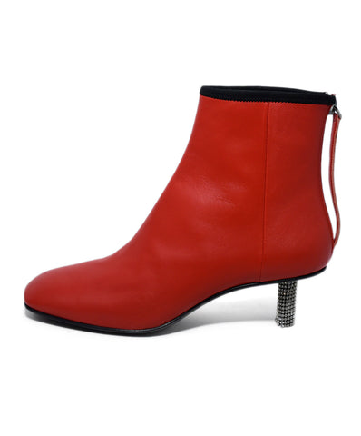 Calvin Klein 205W39NYC Red Leather Rhinestone Heel Booties 1