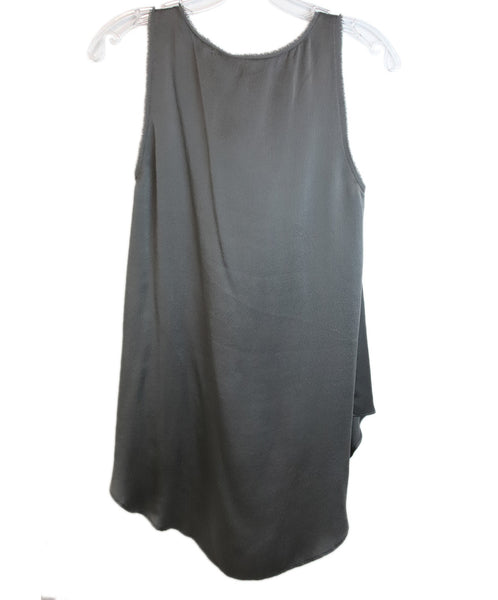 Calypso Grey Silk Top 2